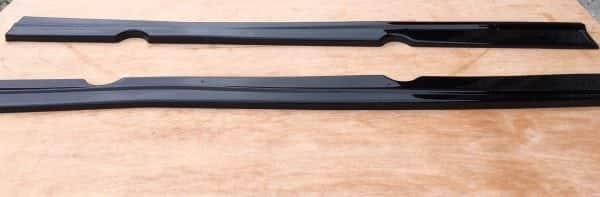 FORD FIESTA MK7.5 ST180 SIDE SKIRT EXTENSIONS (GLOSS BLACK ABS PLASTIC)