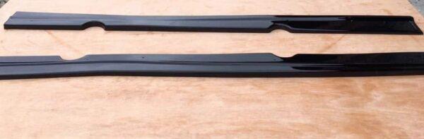 FORD FIESTA MK7.5 ST180 SIDE SKIRT EXTENSIONS (GLOSS BLACK ABS PLASTIC)