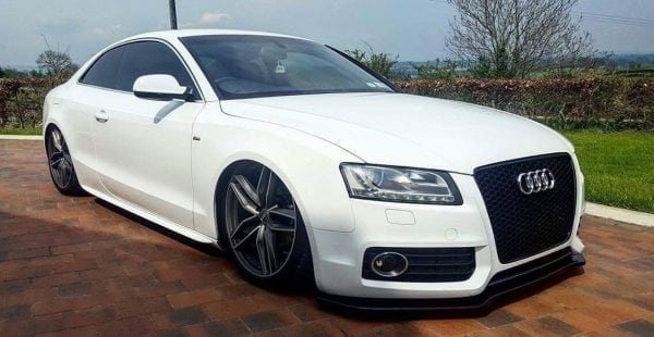 AUDI A5 S-LINE SPLITTER & SIDE SKIRT SPLITTERS HIGH GLOSS BLACK (2007-2011)