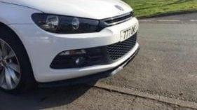 FRONT SPLITTER VW SCIROCCO MK3 (2008-2014) (GLOSS BLACK) ABS PLASTIC
