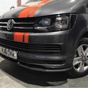 VW T6 Transporter Front Splitter HIGH GLOSS BLACK