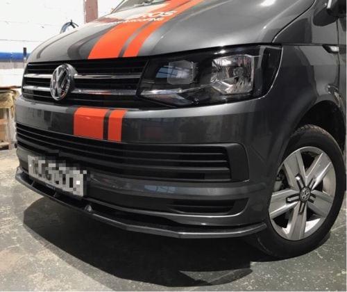 VW T6 Transporter Front Splitter HIGH GLOSS BLACK