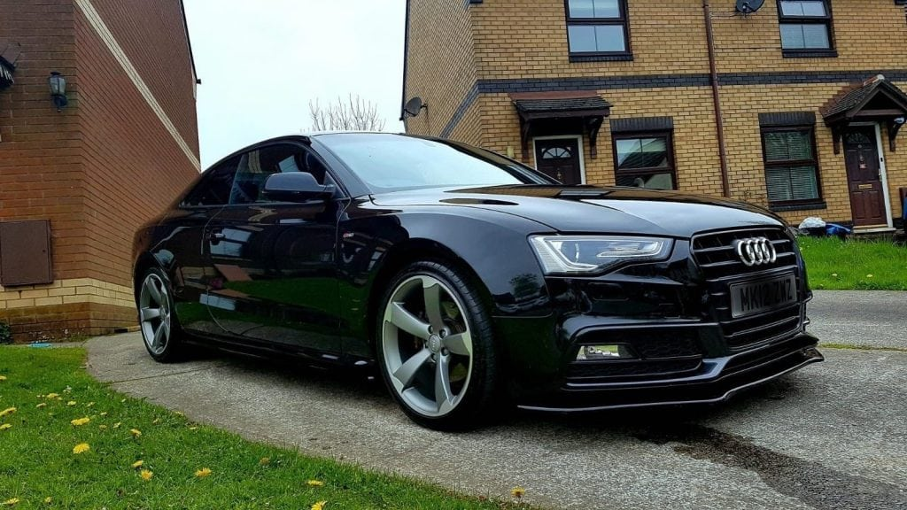 audi a5 s line facelift splitter gloss ksb autostyling. Black Bedroom Furniture Sets. Home Design Ideas
