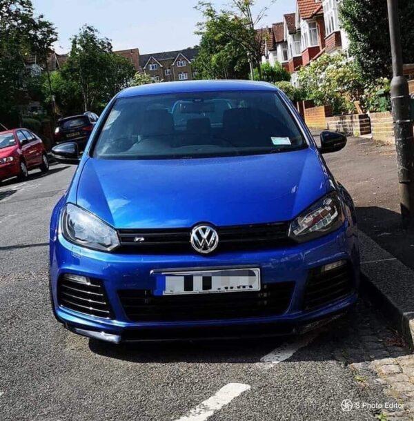 BLUE VW GOLF MK6 R SPLITTER