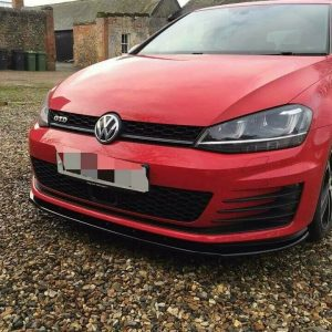 VW GOLF MK7 GTI FRONT SPLITTER & SIDE EXTENSIONS ABS PLASTIC (2013 Up)