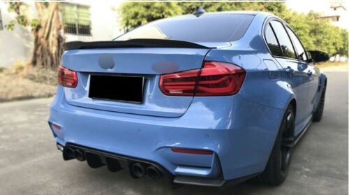 Carbon Fiber V Style Rear Boot Trunk Lip Spoiler for BMW 3 series F30 M3 F80